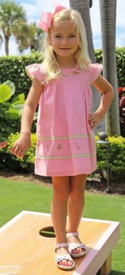 Christian Elizabeth & Co. Girls Pink Flamingo Flagler Dress