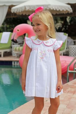 Christian Elizabeth & Co. Girls White Embroidered Birthday Balloons Dress