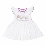Christian Elizabeth & Co. Girls White Mardi Gras Dress - Flutter Sleeves