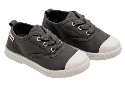 Chus Shoes - Canvas Dylan Lace Up Shoes - Grey