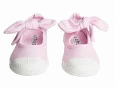 Chus Shoes - Girls Athena Velcro Mary Jane with Bow - Light Pink