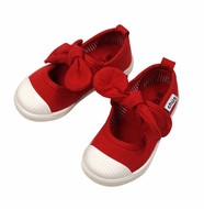 Chus Shoes - Girls Athena Velcro Mary Jane with Bow - Red