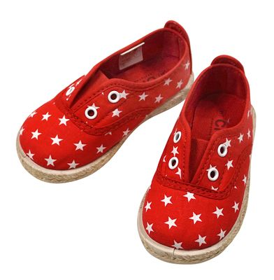 Chus Shoes - Girls / Boys Canvas Teddy Stars Shoe - Rojo Red