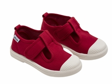 Chus Shoes - Girls & Boys Chris Canvas Velcro T-Strap - Red