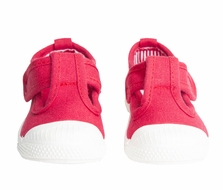 Chus Shoes - Girls Chris Canvas Velcro T-Strap - Red