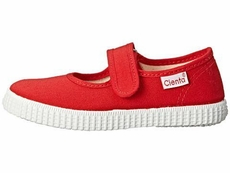 Cienta Shoes Girls Canvas Mary Janes - Red