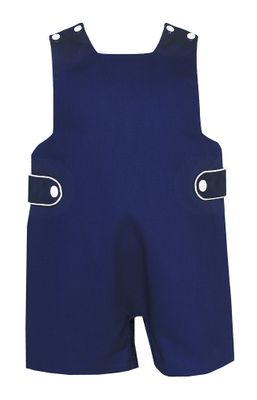 Claire & Charlie Baby / Toddler Boys Navy Blue Pique Jon Jon with Tabs