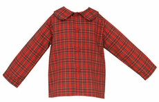 Claire & Charlie Baby / Toddler Boys Red Holiday Plaid Dress Shirt