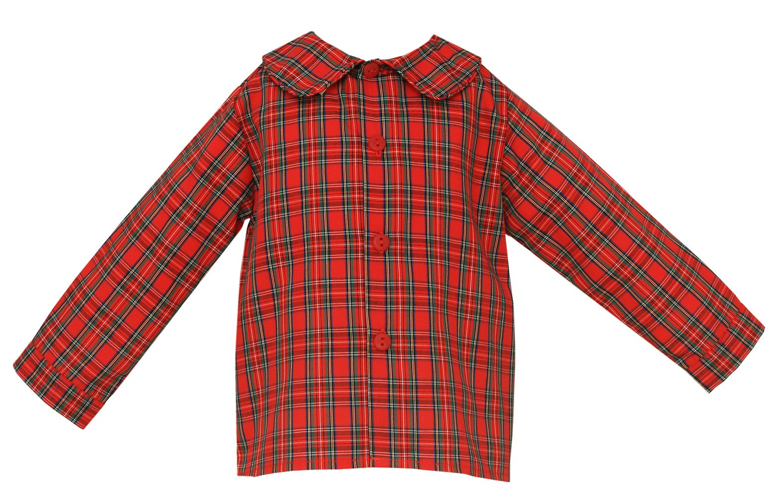 Claire Charlie Baby Toddler Boys Red Holiday Plaid Dress Shirt