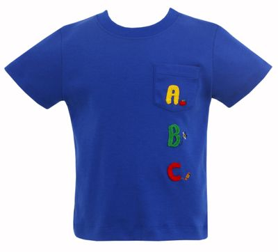 Claire & Charlie Baby / Toddler Boys Royal Blue Back to School Shirt