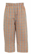 Claire & Charlie Boys Orange / Brown Fall Plaid Pull On Pants