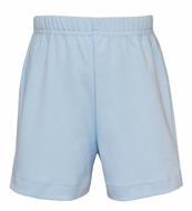 Claire & Charlie Boys Pull On Knit Shorts - Light Blue