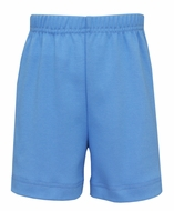 Claire & Charlie Boys Pull On Knit Shorts - Periwinkle Blue
