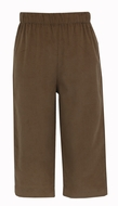 Claire & Charlie Boys Pull On Pants - Brown Corduroy