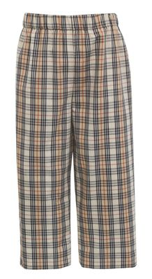 Claire & Charlie Boys Pull On Pants - Tan Burberry Plaid