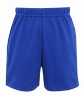 Claire & Charlie Boys Pull On Shorts - Royal Blue Knit