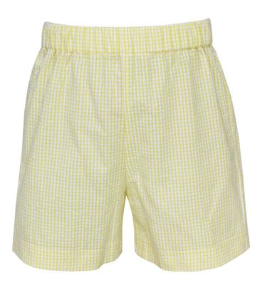 Claire & Charlie Boys Pull On Shorts - Yellow Gingham Seersucker