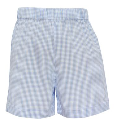 Claire & Charlie Toddler Boys Pull On Shorts - Blue Check