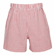 Claire & Charlie Toddler Boys Pull On Shorts - Red Check