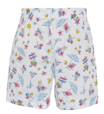 Claire & Charlie Toddler Boys Pull On Shorts - Summer Vacation Print