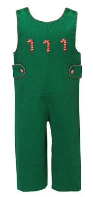 Claire & Charlie Baby / Toddler Boys Green Corduroy Crochet Candy Canes Longall