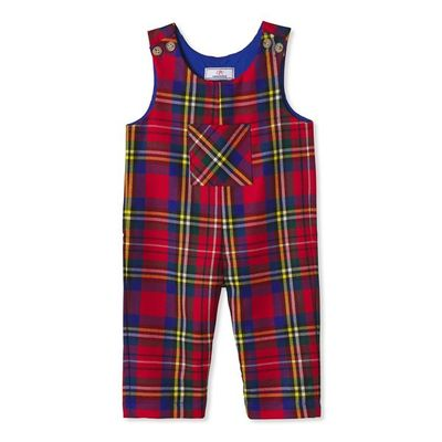 Classic Prep Baby / Toddler Boys Red Holiday Tartan Plaid Tucker Longall