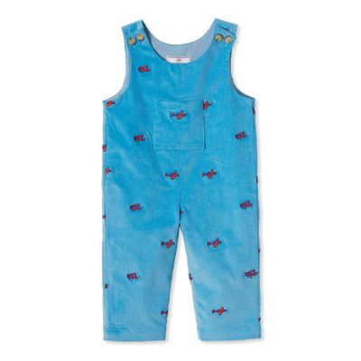 Classic Prep Boys Alaskan Blue Tucker Longall with Embroidered Planes
