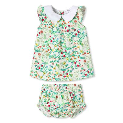 Classic Prep Girls Green Fall Floral Bloomers Set
