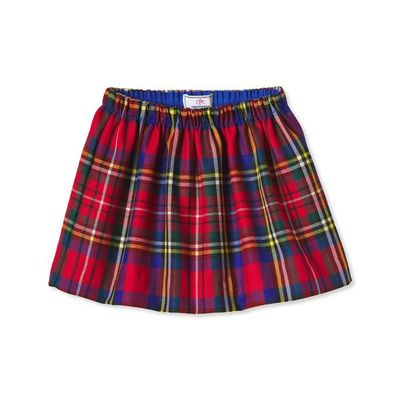 Classic Prep Girls Red Holiday Tartan Plaid Jill Skirt