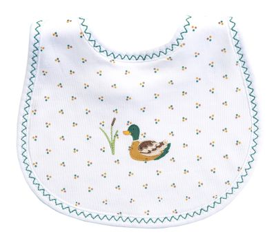 Magnolia Baby Boys / Girls Duck Pond Embroidered Bib
