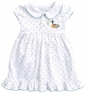Magnolia Baby Girls Duck Pond Embroidered Dress Set