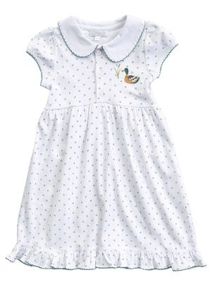 Magnolia Baby Little Girls Duck Pond Embroidered Knit Dress