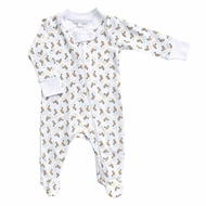 Magnolia Baby Boys Duck Pond Printed Zipped Footie