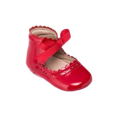 Elephantito Baby Shoes - Girls Sabrina with Bow - Patent Red