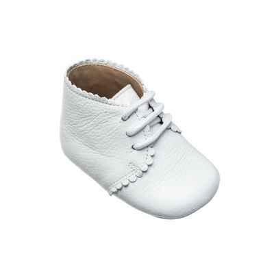 Elephantito Baby Shoes - Girls Scallop Bootie - White