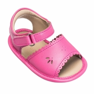 Elephantito Baby Shoes - Girls Scallop Sandals - Flamingo Hot Pink
