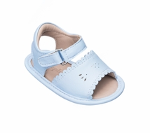 Elephantito Baby Shoes - Girls Scallop Sandals - Light Blue