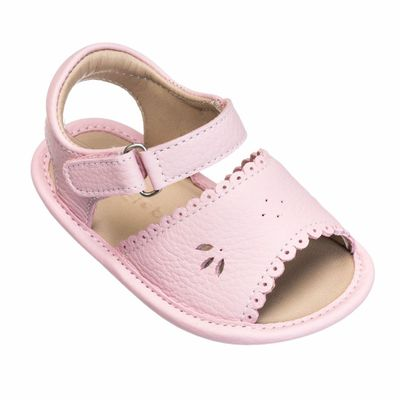 Elephantito Baby Shoes - Girls Scallop Sandals - Light Pink