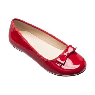 Elephantito Girls Shoes - Camille Dress Flats - Patent Red