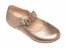 Elephantito Girls Shoes - Charlotte Mary Janes with Bow - Gold