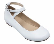 Elephantito Girls Shoes - French Ballet Flats - White