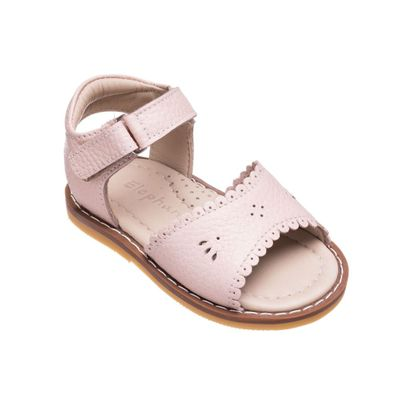 Elephantito Girls Shoes - Toddler Classic Scallop Sandals - Light Pink