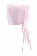 Feltman Brothers Baby Girls Bonnet - Floral Bullions and Lace - Pink