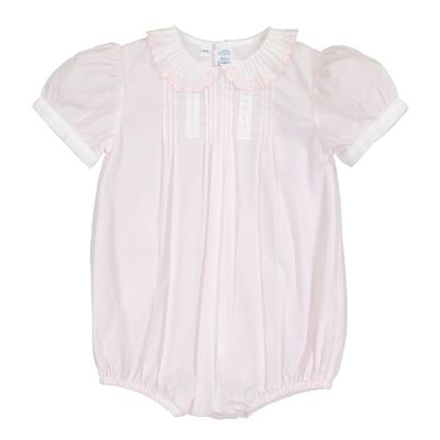 Feltman Brothers Baby Girls Vintage Scallop Collar Bubble - Pink