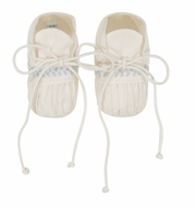 Feltman Brothers Baby Ivory / Blue Vintage Booties - Boy