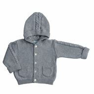 Feltman Brothers Baby / Toddler Hooded Cable Cardigan Sweater - Grey