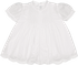 Feltman Brothers Newborn Baby Girls Take Me Home Dress with Slip & Lace - White