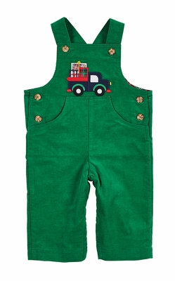 Florence Eiseman Baby Boys Green Corduroy Longall - Christmas Presents Truck