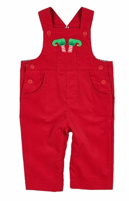 Florence Eiseman Baby Boys Red Corduroy Longall - Christmas Elf in Pocket