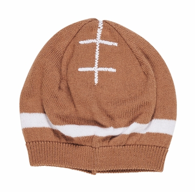 Florence Eiseman Baby Boys Tan Sweater Knit Football Hat